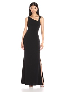 laundry BY SHELLI SEGAL Women's Beaded Strap Jersey Dress with Side Tucks