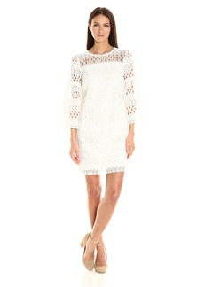 Laundry by Shelli Segal Women's Bell Sleeve Lace