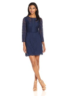 laundry BY SHELLI SEGAL Women's Bell Sleeve Stretch Lace Dress