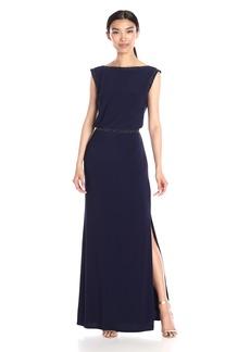 Laundry by Shelli Segal Women's Blouson Long Dress with Beading