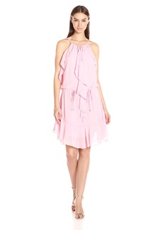 laundry BY SHELLI SEGAL Women's Boho Chic Ruffle Dress with Tie Details