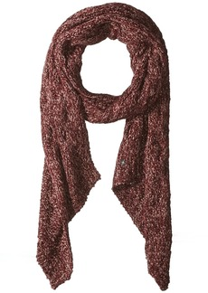 LAUNDRY BY SHELLI SEGAL Women's Boucle Knit Bias End Scarf Accessory garnet/peach whip one size