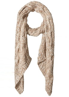 LAUNDRY BY SHELLI SEGAL Women's Boucle Knit Bias End Scarf Accessory -marshmallow/nude one size