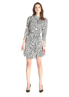 laundry BY SHELLI SEGAL Women's Bow Tie Printed Dress