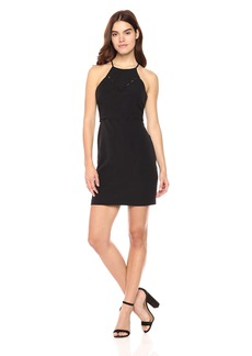 laundry BY SHELLI SEGAL Women's Button Trim Cocktail Dress