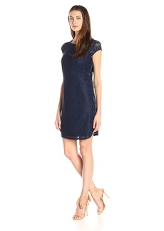 laundry BY SHELLI SEGAL Women's Callista Stretch-Lace Shift Dress