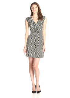 laundry BY SHELLI SEGAL Women's Cap Sleeve Printed Dress with Front Twist