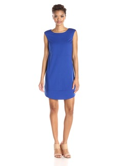 laundry BY SHELLI SEGAL Women's Cap Sleeve Sheath Dress with Seaming