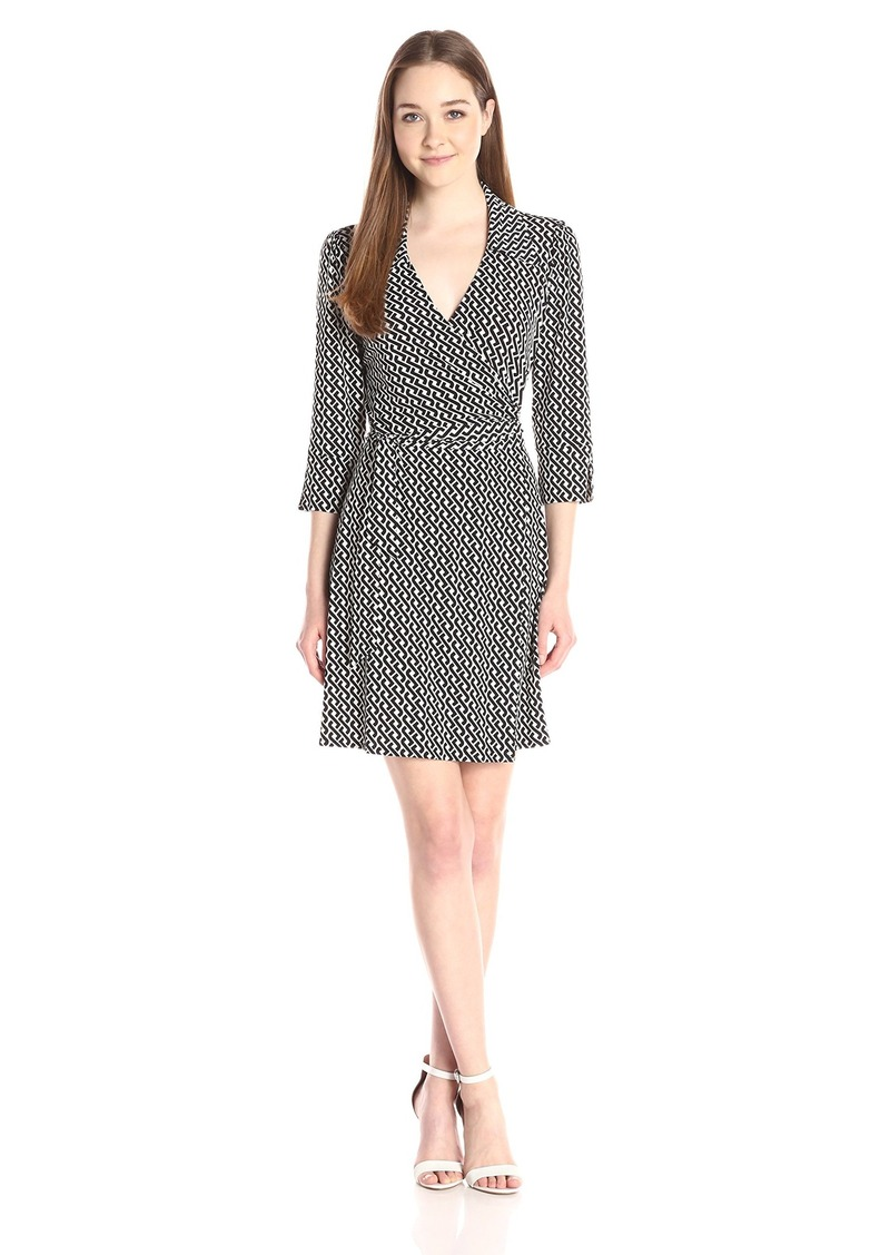 laundry BY SHELLI SEGAL Women's Celtic Braid Wrap Shirt Dress