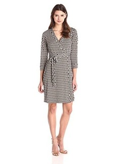 laundry BY SHELLI SEGAL Women's Chain Glam' Matte Jersey Wrap Dress