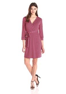 laundry BY SHELLI SEGAL Women's Chain Glam' Matte Jersey Wrap Dress