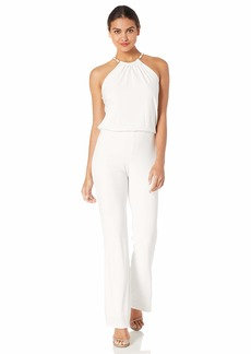 Laundry by Shelli Segal Women's Chain Necklace Jumpsuit