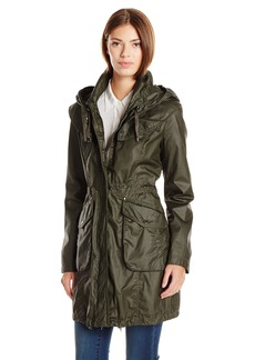 Laundry By Shelli Segal Women's Coated Cotton Anorak  edium