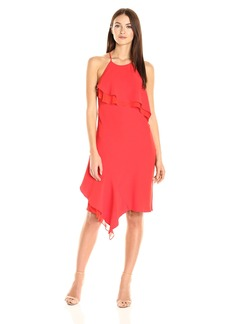 laundry BY SHELLI SEGAL Women's Cocktail Ruffle Dress