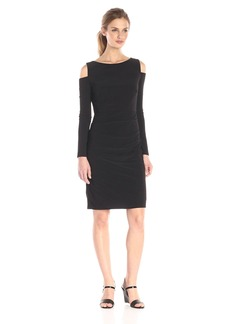 laundry BY SHELLI SEGAL Women's Cold Shoulder Matte Jersey Cocktail Dress