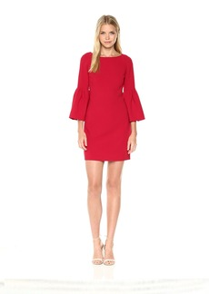 Laundry by Shelli Segal Women's Crepe Shift Dress with Tulip Sleeve