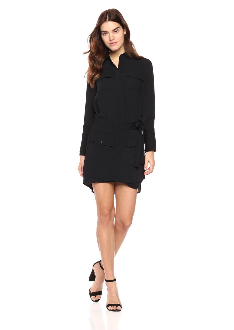 Laundry by Shelli Segal Women's Crepe Shirt Dress with Removable Skirt