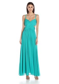 Laundry by Shelli Segal Women's Criss Cross Pleated Gown