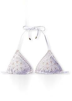 Laundry by Shelli Segal Women's Crochet Triangle Bikini Top  M