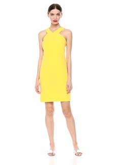 LAUNDRY BY SHELLI SEGAL Women's Cross Front Halter Dress