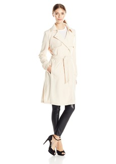Laundry By Shei Sega Women's Doube Breasted Fuid Trench  Large