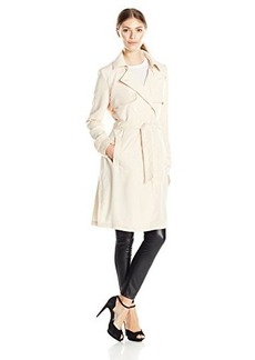 Laundry By Shelli Segal Women's Double Breasted Fluid Trench