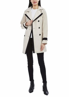 LAUNDRY BY SHELLI SEGAL Women's Double Breasted Jacket with Contrast Trim