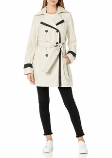 LAUNDRY BY SHELLI SEGAL Women's Double Breasted Jacket with Contrast Trim  Extra Small