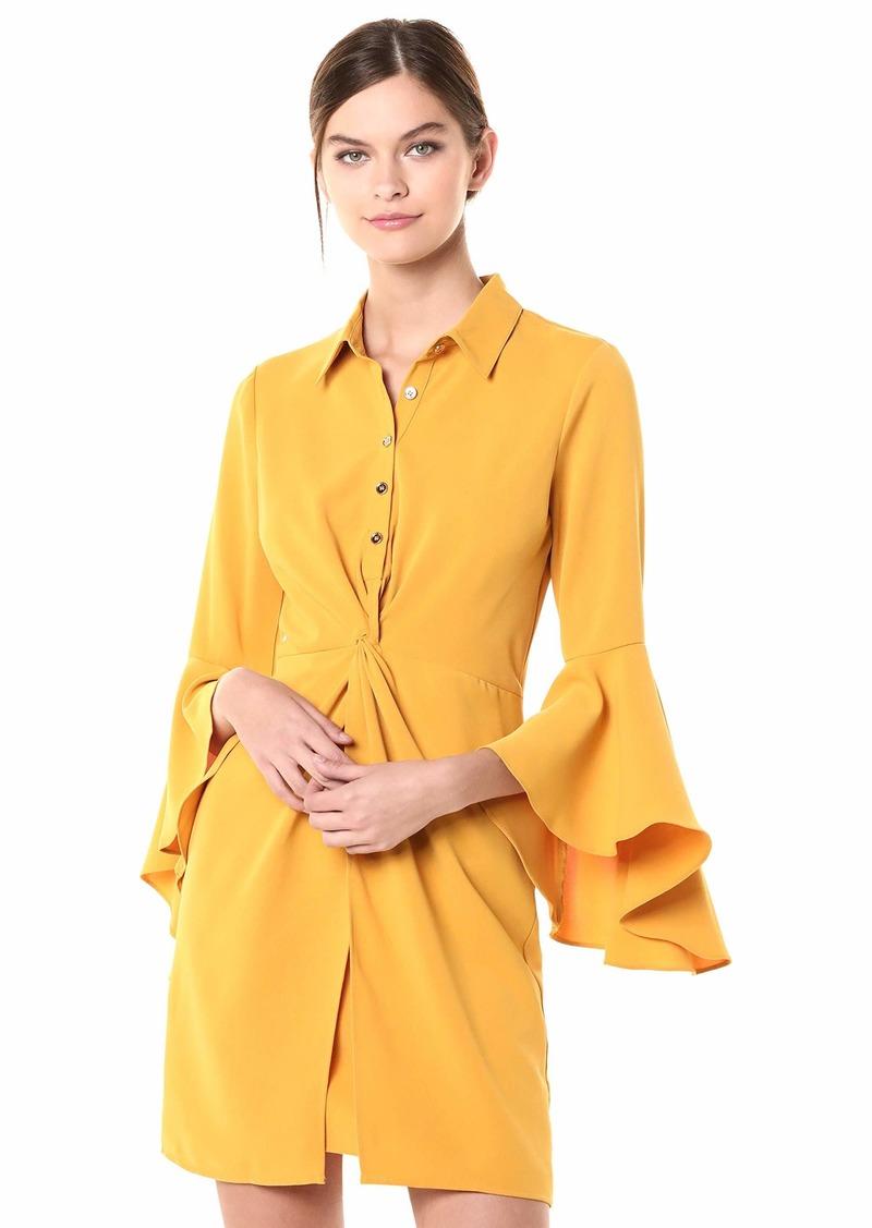 LAUNDRY BY SHELLI SEGAL Women's Drama Sleeve Shirt Dress