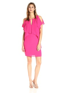 Laundry by Shelli Segal Women's Drapey Sleeve Shift Dress