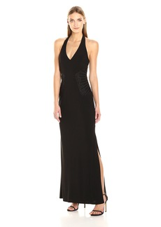 laundry BY SHELLI SEGAL Women's Embellished Halter Gown