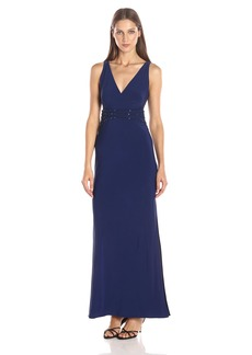 Laundry by Shelli Segal Women's Embellished Waist Gown