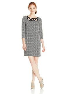 laundry BY SHELLI SEGAL Women's Escher Geo Dress BlackWhite
