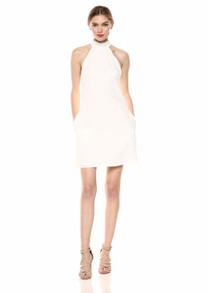 LAUNDRY BY SHELLI SEGAL Women's Eyelet Halter Dress