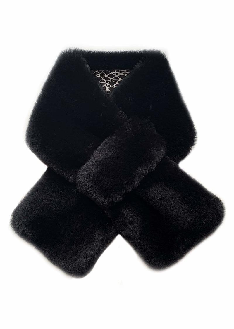 LAUNDRY BY SHELLI SEGAL Women's Faux Fur Scarf black Onesize
