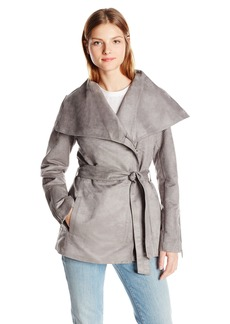Laundry by Shelli Segal Women's Faux Suede Belted Jacket