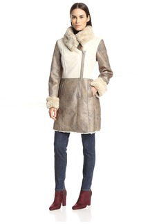 Laundry by Shelli Segal Women's Faux Suede Coat