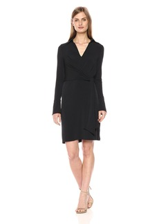 laundry BY SHELLI SEGAL Women's Faux Wrap Matte Jersey Shirt Dress