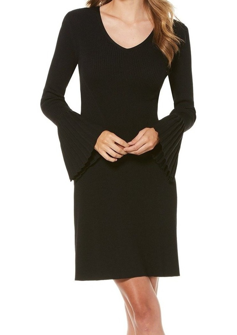 Laundry by Shelli Segal Women's Fit and Flare Sweater Dress with Pleated Cuff  L