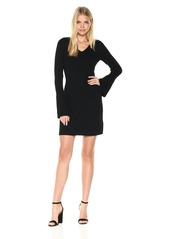 LAUNDRY BY SHELLI SEGAL Women's Fit and Flare Sweater Dress with Pleated Cuff  M