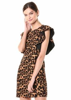 LAUNDRY BY SHELLI SEGAL Women's Flutter Sleeve Dress