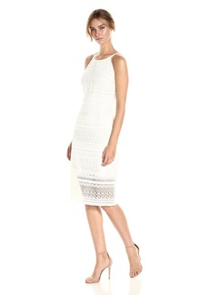 laundry BY SHELLI SEGAL Women's Fringe Venise Lace Dress