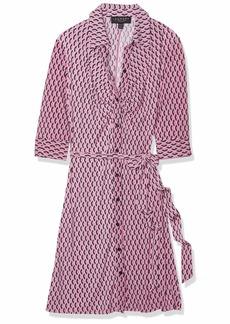 LAUNDRY BY SHELLI SEGAL Women's Geo Printed Matte Jersey Shirt Dress