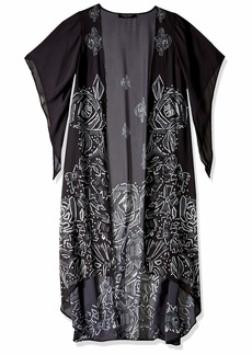 LAUNDRY BY SHELLI SEGAL Women's Graphic Floral Maxi Vest