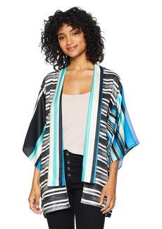 LAUNDRY BY SHELLI SEGAL Women's Graphic Stripe Kimono