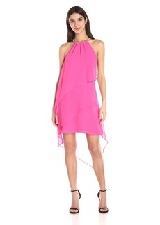 laundry BY SHELLI SEGAL Women's Hi-Multi Chiffon Asymmetrical Dress