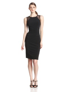 laundry BY SHELLI SEGAL Women's Illusion and Jersey Cocktail Dress