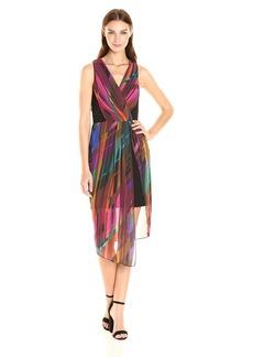 Laundry by Shelli Segal Women's Illusion Crepe Dress