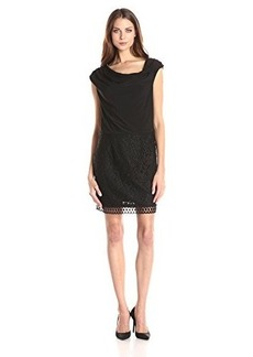 laundry BY SHELLI SEGAL Women's Lace and Matte Jersey Sleeveless Blouson