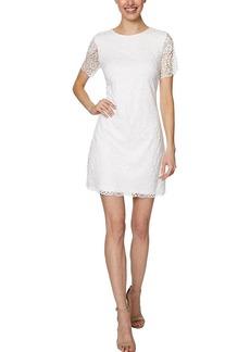 LAUNDRY BY SHELLI SEGAL Women's Lace Mini Dress with Key Hole Back